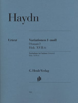 HAYDN - Variations in F minor Hob. XVII: 6 - Sheet Music - di-arezzo.co.uk