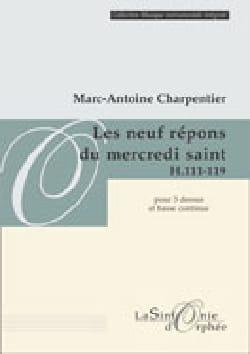 Les 9 Répons Du Mercredi Saint H.111-119 CHARPENTIER laflutedepan