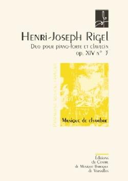 Henri-Joseph Rigel - Duo Pour Pianoforte et Clavecin Op. 14-3 - Partition - di-arezzo.fr