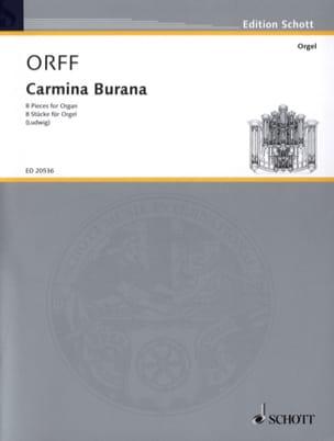 Carl Orff - Carmina Burana. Orgue - Partition - di-arezzo.fr