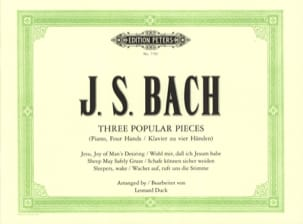BACH - 3 Popular Pieces. 4 Hands - Sheet Music - di-arezzo.co.uk