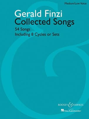 Gerald Finzi - 54 Collected Songs. Voix Grave - Partition - di-arezzo.fr