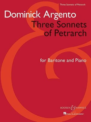 Dominick Argento - 3 Sonnets Of Petrarch - Partition - di-arezzo.fr