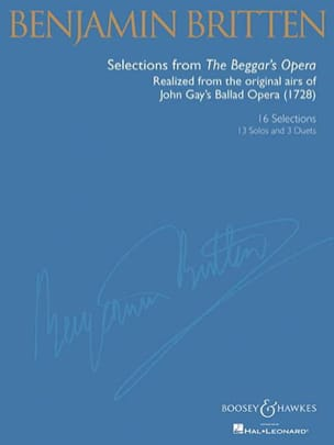 Gay John / Britten Benjamin - Selection From The Beggar's Opera - Sheet Music - di-arezzo.co.uk