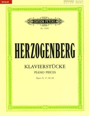 Heinrich von Herzogenberg - Klavierstücke Op. 25, 37, 49, 68 - Partition - di-arezzo.fr