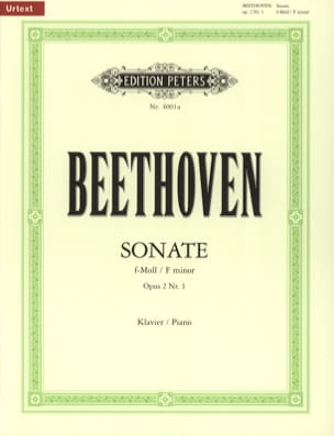 BEETHOVEN - Sonata for piano n ° 1 in F minor Opus 2-1 - Sheet Music - di-arezzo.com