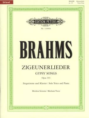 BRAHMS - 8 Zigeunerlieder Opus 103. Average Voice - Sheet Music - di-arezzo.com