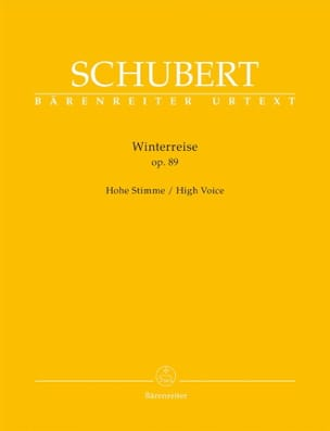 SCHUBERT - Winterreise Opus 89. High Voice - Sheet Music - di-arezzo.com