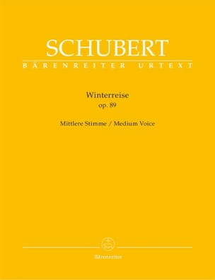SCHUBERT - Winterreise Opus 89. Voix Moyenne - Partition - di-arezzo.fr