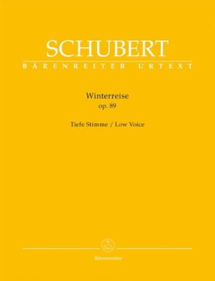 SCHUBERT - Winterreise Opus 89. Serious Voice - Sheet Music - di-arezzo.co.uk