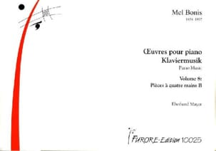 Mel Bonis - Oeuvres Pour Piano 4 Mains B. Volume 8 - Partition - di-arezzo.fr