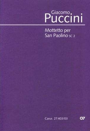 Mottetto Per San Paolino Sc 2 PUCCINI Partition Chœur - laflutedepan