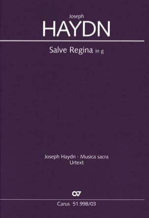 HAYDN - Salve Regina In Sol Minor Hob 23b-2 - Sheet Music - di-arezzo.com