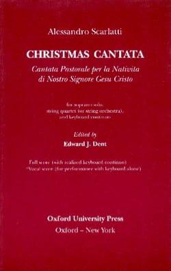 Alessandro Scarlatti - Cantata Pastorale Per la Nativita Dii Nostro Signore Gesu Cristo - Partition - di-arezzo.fr