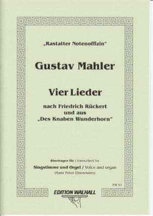 Gustav Mahler - 4 Lieder - Partition - di-arezzo.fr