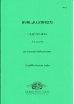 Barbara Strozzi - Lagrime Mie - Partition - di-arezzo.fr