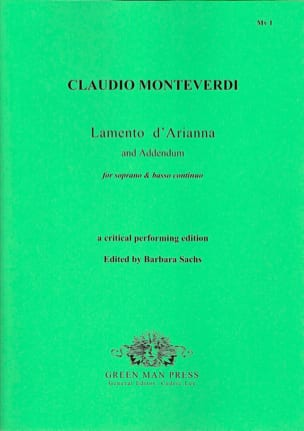 Claudio Monteverdi - Lamento D'arianna Addendum - Partition - di-arezzo.co.uk