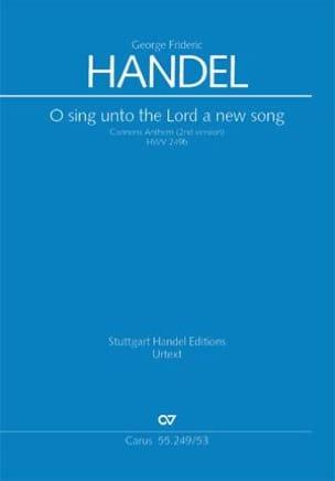 O Sing Unto The Lord A New Song HWV 249b - laflutedepan.com