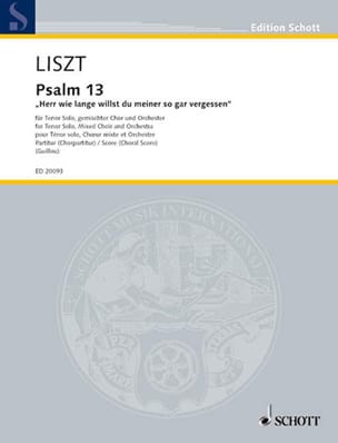 Franz Liszt - Psaume 13 - Partition - di-arezzo.fr