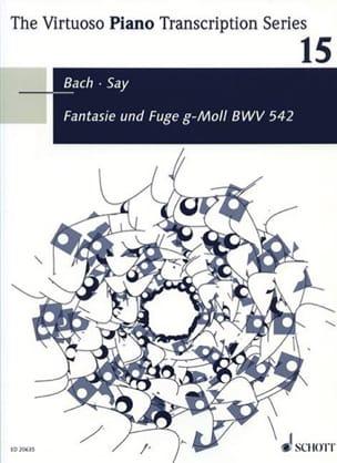 BACH - Fantasie Und Fuge BWV 542 - Partition - di-arezzo.fr