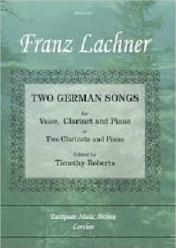 2 German Songs Franz Lachner Partition Clarinette - laflutedepan