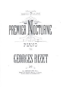 Premier Nocturne BIZET Partition Piano - laflutedepan