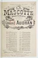 Edmond Audran - Hi to you Lords! The mascot - Sheet Music - di-arezzo.com