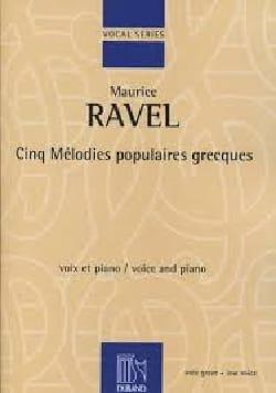 5 Mélodies Populaires Grecques. Voix Grave - laflutedepan.com