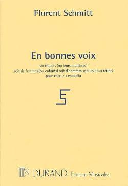Florent Schmitt - En Bonnes Voix - Partition - di-arezzo.fr