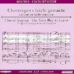 Messe Solennelle de Sainte Cécile. CD Alto GOUNOD laflutedepan