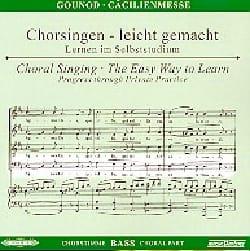 Messe Solennelle de Sainte Cécile. CD Basse GOUNOD laflutedepan