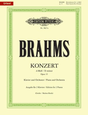 BRAHMS - Concierto para piano n.º 1 Opus 15 In D Minor - Partitura - di-arezzo.es
