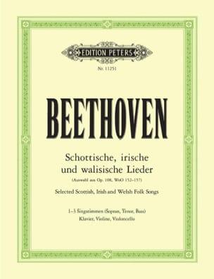 BEETHOVEN - Schottische, Irische Und Walisische Lieder - Partition - di-arezzo.fr