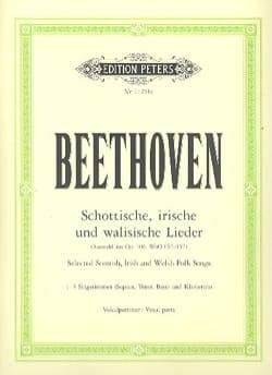 Ludwig van Beethoven - Schottische, Irische Und Walisische Lieder - Partition - di-arezzo.fr