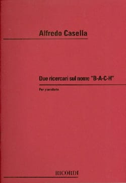 2 Ricercare Sul Nome B.A.C.H Alfredo Casella Partition laflutedepan