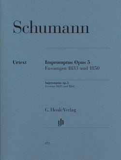 SCHUMANN - Impromptus Op. 5 - Partition - di-arezzo.fr