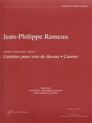 Jean-Philippe Rameau - Cantates Pour Voix de Dessus et Canons - Partition - di-arezzo.fr