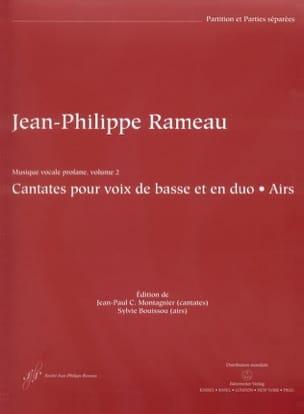 Jean-Philippe Rameau - Cantates et Airs Pour Voix de Basse En Duos. - Partition - di-arezzo.fr