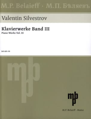 Valentin Silvestrov - Piano Works Band 3 - Partition - di-arezzo.fr