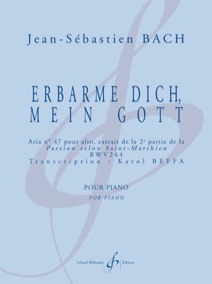 Bach Jean-Sébastien / Beffa Karol - Erbarme Dich, Mein Gott - Partition - di-arezzo.fr