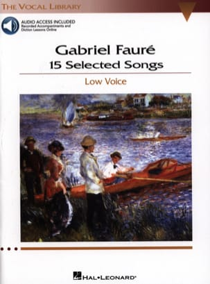 Gabriel Fauré - 15 Selected Songs. Deep voice - Sheet Music - di-arezzo.co.uk