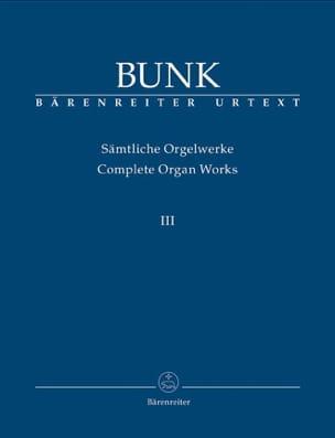 Sämtliche Orgelwerke Volume 3 Gerard Bunk Partition laflutedepan
