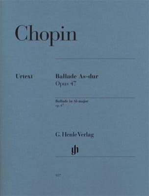 Frédéric Chopin - Ballade En la Bémol Majeur Opus 47 - Partition - di-arezzo.fr