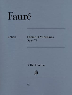 Gabriel Fauré - Theme and Variations - Sheet Music - di-arezzo.com