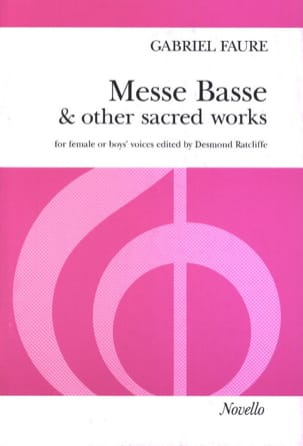 Gabriel Fauré - Messe Basse And Other Sacred Works - Partition - di-arezzo.fr