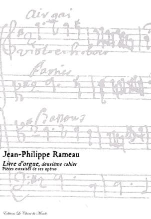 Livre D'orgue 2ème Cahier - Jean-Philippe Rameau - laflutedepan.com