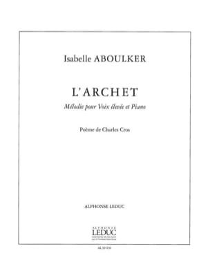 Isabelle Aboulker - The bow - Sheet Music - di-arezzo.com