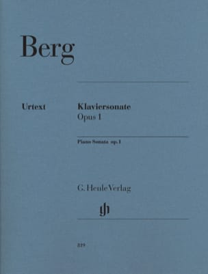Sonate Pour Piano Opus 1 - Alban Berg - Partition - laflutedepan.com