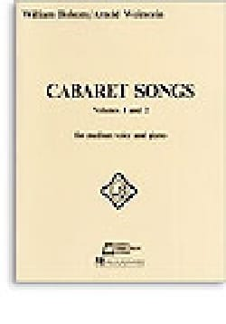 Cabaret Songs Volumes 1 et 2 William Bolcom Partition laflutedepan