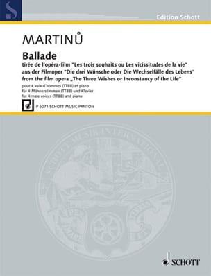 Ballade - Bohuslav Martinu - Partition - Chœur - laflutedepan.com